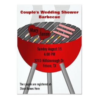 Invitation orientée du wedding shower du couple de