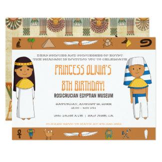 Invitation orientée égyptienne de partie