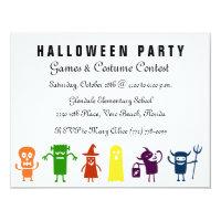 Partie colorée de costume de Halloween d'enfants