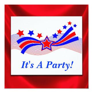 Invitation patriotique de partie de bannière