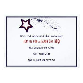 Invitation patriotique de partie de jour de Laber