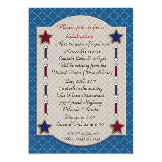 Invitation patriotique de partie de retraite