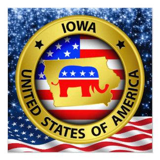 Invitation patriotique républicaine de l'Iowa -
