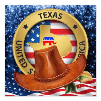 Invitation patriotique républicaine du Texas - srf