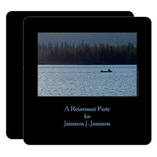 Invitation, pêcheur et fils de partie de retraite carton d'invitation  13,33 cm