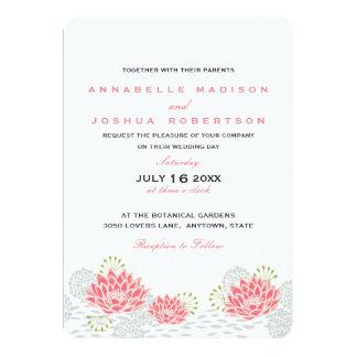 Invitation peint de mariage de Lillies de l'eau