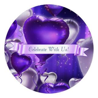 Invitation personnalisable de coeur circulaire de