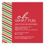 Invitation personnalisable de fête de Noël d'amuse