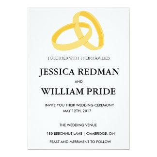 Invitation personnalisable de mariage d'anneaux