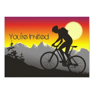 Invitation personnalisé d'anniversaire de cycliste