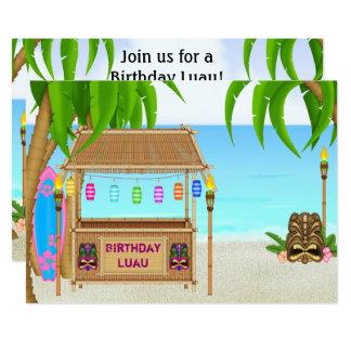 Invitation personnalisée d'anniversaire de plage