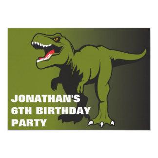 Invitation personnalisée d'anniversaire de T-Rex