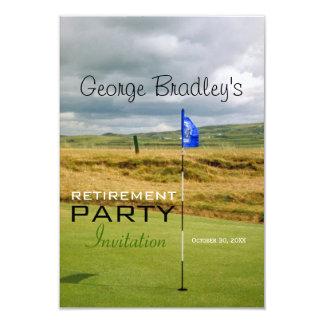 Invitation personnalisée par golf de partie de