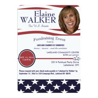 Invitation politique de collecteur de fonds avec