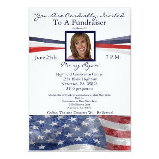 Invitation politique de collecteur de fonds avec carton d'invitation  12,7 cm x 17,78 cm