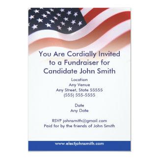 Invitation politique de drapeau