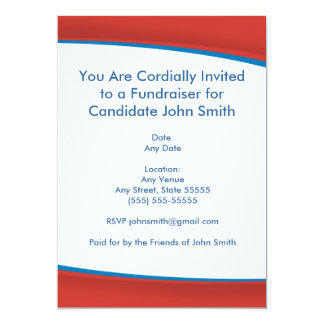 Invitation politique rouge