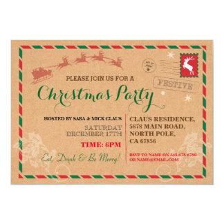 Invitation postal de carte postale de dîner de