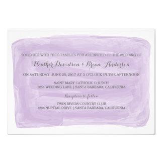 Invitation pourpre de mariage d'aquarelle