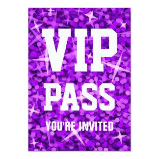 """Invitation pourpre de """"PASSAGE de VIP"""" de Carton D'invitation 12,7 Cm X 17,78 Cm"""