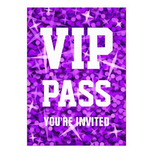 """Invitation pourpre de """"PASSAGE de VIP"""" de tape-à-l"""