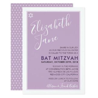 Invitation pourpre de tween moderne juif d'étoile