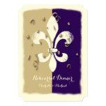 Invitation pourpre d'événement de Confetti Fleur