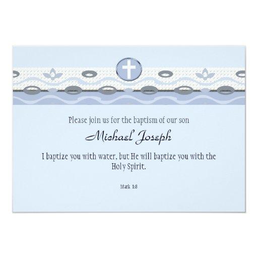 Invitation rectangulaire d'harmonie bleue carton d'invitation  12,7 cm x 17,78 cm