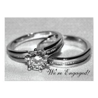 Invitation réglé de partie de fiançailles d'anneau