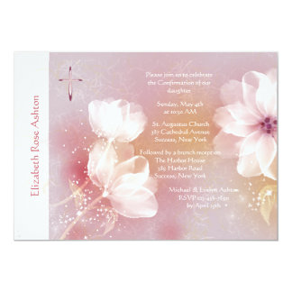 Invitation religieuse de magnolia blanche