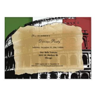 Invitation romain contemporain de dîner de Colisé Carton D'invitation 12,7 Cm X 17,78 Cm