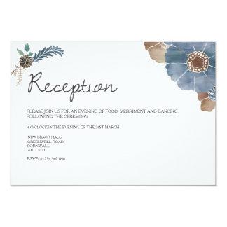 Invitation romantique de réception de mariage de carton d'invitation 8,89 cm x 12,70 cm