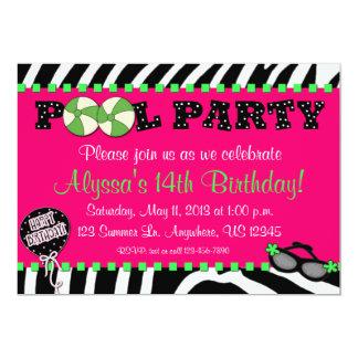 Invitation rose d'anniversaire de réception au carton d'invitation  12,7 cm x 17,78 cm