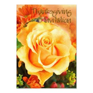 Invitation rose d'automne de thanksgiving