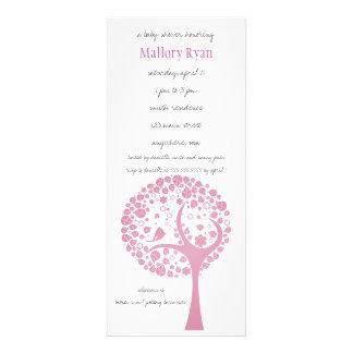 Invitation rose de baby shower d arbre fleurissant