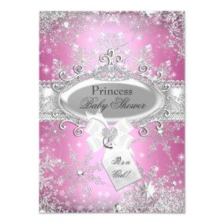 Invitation rose de baby shower de princesse Winter