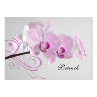 Invitation rose de brunch de mariage de courrier