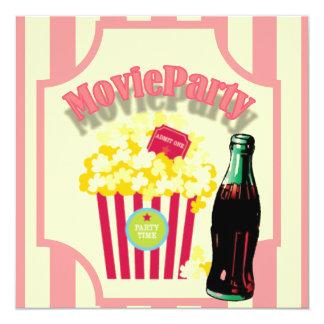 Invitation rose de fête d'anniversaire de film de