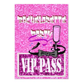 Invitation rose de partie de Bachelorette VIP