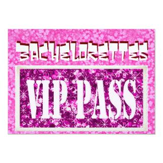 Invitation rose de partie de Bachelorette VIP Carton D'invitation 12,7 Cm X 17,78 Cm