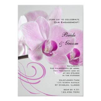 Invitation rose de partie de fiançailles