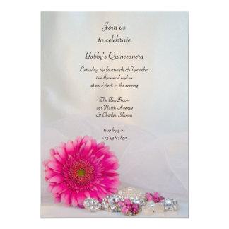 Invitation rose de partie de Quinceañera de
