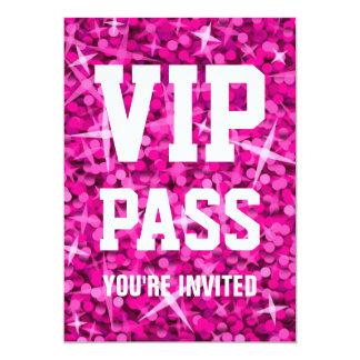 "Invitation rose de ""PASSAGE de VIP"" de"