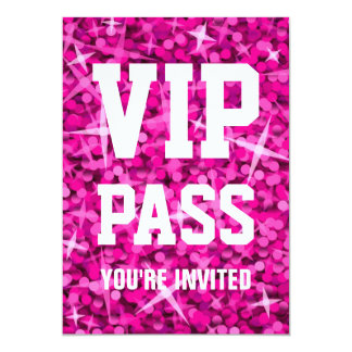 "Invitation rose de ""PASSAGE de VIP"" de Carton D'invitation 12,7 Cm X 17,78 Cm"