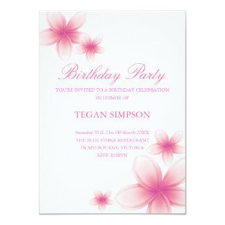 Invitation rose et blanc d'anniversaire de