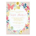 Invitation rose florale de fille de baby shower de carton d'invitation  12,7 cm x 17,78 cm