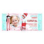 Invitation rose grande de carnaval