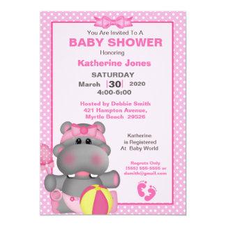 Invitation rose mignonne de baby shower