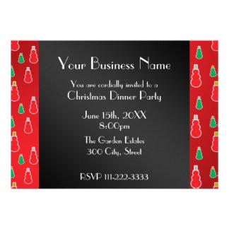 Invitation rouge d affaires de bonhomme de neige