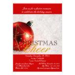 Invitation rouge de dîner de Noël d'ornement